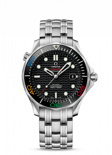 Omega 522.30.41.20.01.001 : Seamaster Diver 300M Co-Axial 41.5 Stainless Steel / Black / Bracelet / Olympic Collection Rio