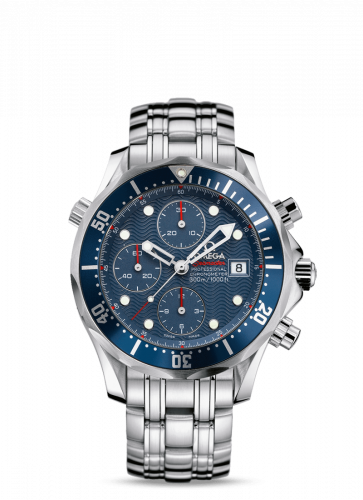 Omega 2227.80.00 : Seamaster Diver 300M Automatic 41.5 Chronograph Stainless Steel / Blue / Bracelet