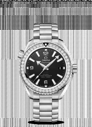 Omega 215.15.40.20.01.001 : Seamaster Planet Ocean 600M Co-Axial 39.5 Master Chronometer Stainless Steel / Diamond / Black / Bracelet