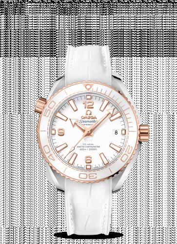 Omega 215.23.40.20.04.001 : Seamaster Planet Ocean 600M Co-Axial 39.5 Master Chronometer Stainless Steel / Sedna Gold / White / Alligator