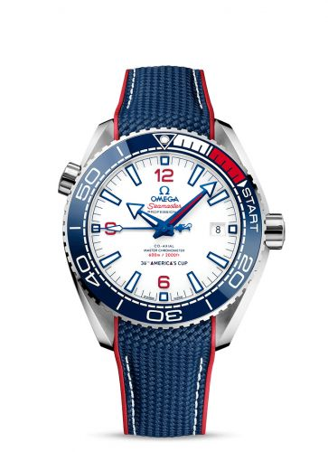 215.32.43.21.04.001 : Omega Seamaster Planet Ocean 600M Co-Axial 43.5 Master Chronometer Stainless Steel / White / America's Cup
