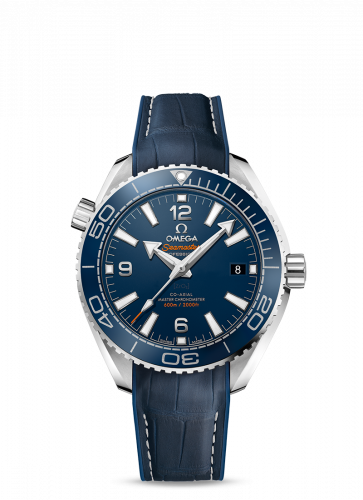 Omega 215.33.40.20.03.001 : Seamaster Planet Ocean 600M Co-Axial 39.5 Master Chronometer Stainless Steel / Blue / Alligator