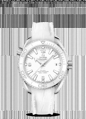 Omega 215.33.40.20.04.001 : Seamaster Planet Ocean 600M Co-Axial 39.5 Master Chronometer Stainless Steel / White / Alligator