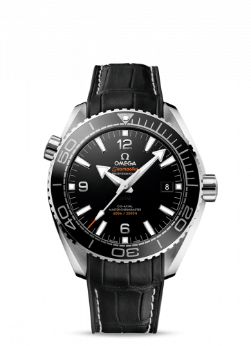 215.33.44.21.01.001 : Omega Seamaster Planet Ocean 600M Co-Axial 43.5 Master Chronometer Stainless Steel / Black / Alligator