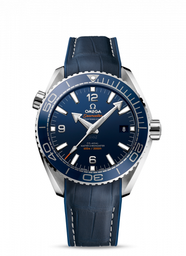215.33.44.21.03.001 : Omega Seamaster Planet Ocean 600M Co-Axial 43.5 Master Chronometer Stainless Steel / Blue / Alligator