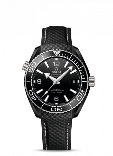 Omega 215.92.40.20.01.001 : Seamaster Planet Ocean 600M Co-Axial 39.5 Master Chronometer Deep Black  / Black / Strap
