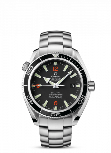 2201.51.00 : Omega Seamaster Planet Ocean 600M Co-Axial 42 Stainless Steel / Orange Numerals / Bracelet