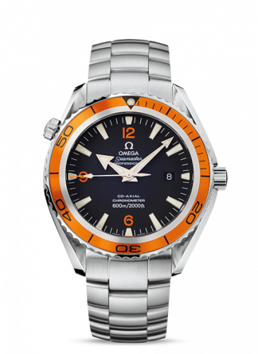 2208.50.00 : Omega Seamaster Planet Ocean 600M Co-Axial 45.5 Stainless Steel / Orange / Bracelet