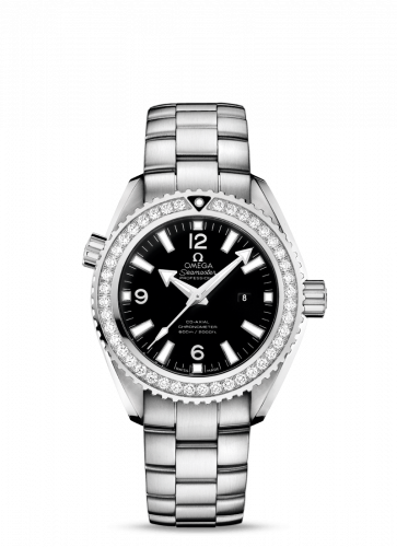 Omega 232.15.38.20.01.001 : Seamaster Planet Ocean 600M Co-Axial 37.5 Stainless Steel / Diamond / Black / Bracelet