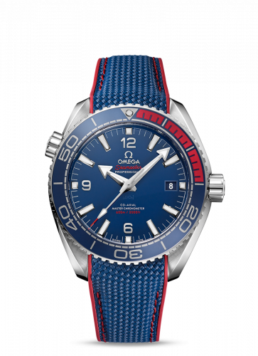 522.32.44.21.03.001 : Omega Seamaster Planet Ocean 600M Co-Axial 43.5 Master Chronometer Stainless Steel / Blue / Rubber / PyeongChang 2018