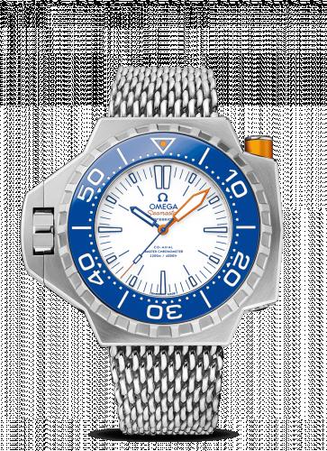 Omega 227.90.55.21.04.001 : Seamaster PloProf Co-Axial Master Chronometer Titanium / White / Blue