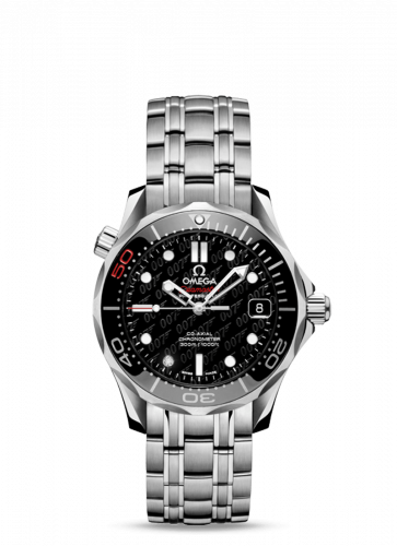 Omega 212.30.36.20.51.001 : Seamaster Diver 300M Co-Axial 36.25 Stainless Steel / Black / Bracelet / James Bond 50th Anniversary