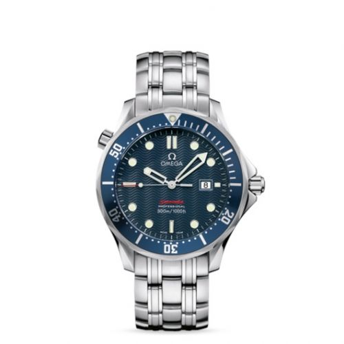 Omega 2221.80.00 : Seamaster Diver 300M Quartz 41 Stainless Steel / Blue / Bracelet