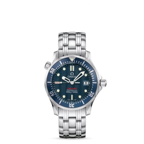 Omega 2223.80.00 : Seamaster Diver 300M Quartz 36.25 Stainless Steel / Blue / Bracelet
