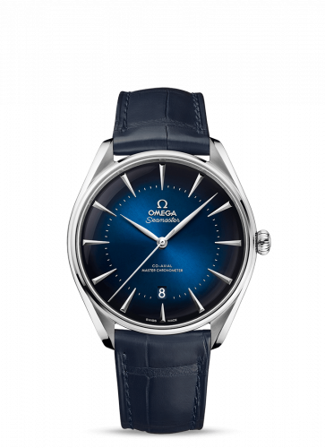 Omega 511.13.40.20.03.001 : Seamaster Master Co-Axial 39.5 London Edition Stainless Steel / Blue / Alligator