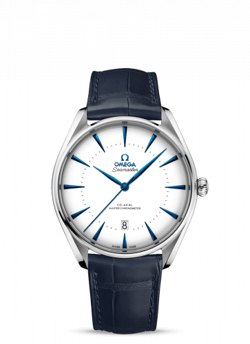 Omega 511.13.40.20.04.002 : Seamaster Master Co-Axial 39.5 Singapore Edition Stainless Steel / White / Alligator