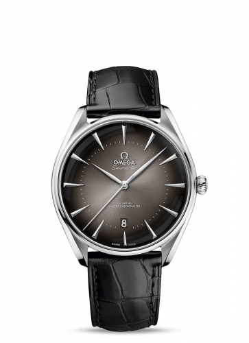511.13.40.20.06.001 : Omega Seamaster Master Co-Axial 39.5 Paris Edition Stainless Steel / Grey / Alligator