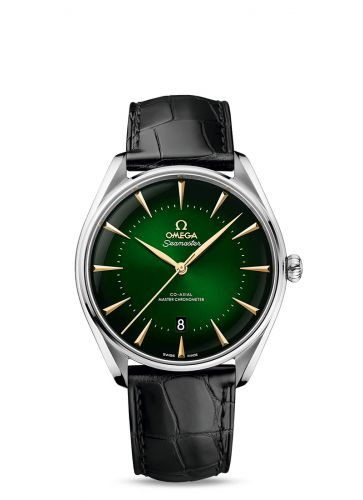 Omega 511.13.40.20.10.001 : Seamaster Master Co-Axial 39.5 Macau Edition Stainless Steel / Green / Alligator