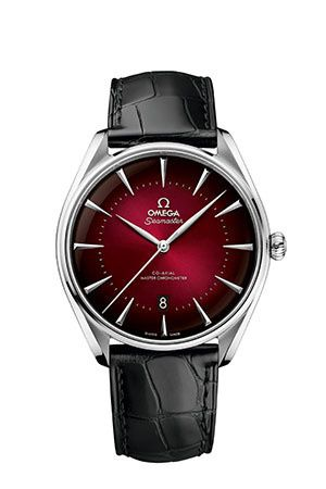 Omega 511.13.40.20.11.001 : Seamaster Master Co-Axial 39.5 Hong Kong Edition Stainless Steel / Red / Alligator