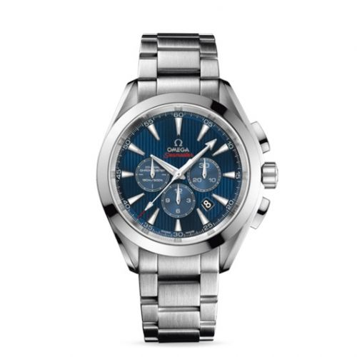 522.10.44.50.03.001 : Omega Seamaster Aqua Terra 150M Co-Axial 44 Chronograph Stainless Steel / Blue / Bracelet / Olympic Collection