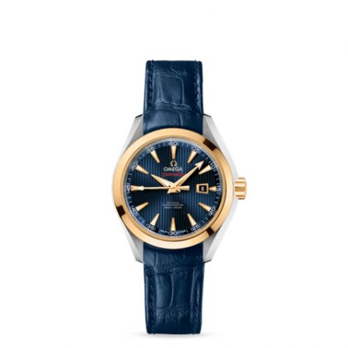 522.23.34.20.03.001 : Omega Seamaster Aqua Terra 150M Co-Axial 34 Stainless Steel / Yellow Gold / Blue / Bracelet / Olympic Collection London 2012