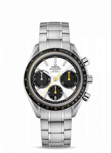 Omega 326.30.40.50.04.001 : Speedmaster Racing Co-Axial Chronograph Stainless Steel / Silver-Yellow / Bracelet