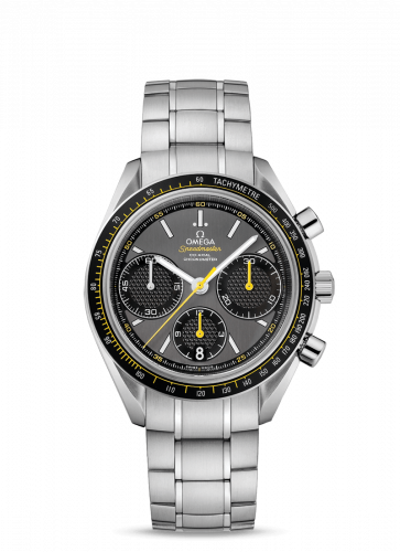 Omega 326.30.40.50.06.001 : Speedmaster Racing Co-Axial Chronograph Stainless Steel / Grey-Yellow / Bracelet