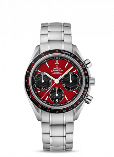 Omega 326.30.40.50.11.001 : Speedmaster Racing Co-Axial Chronograph Stianless Steel / Red / Bracelet