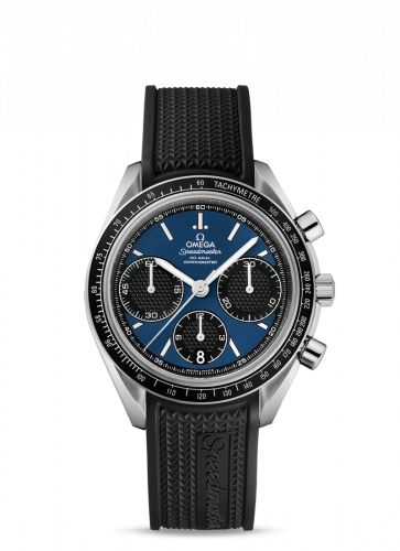 Omega 326.32.40.50.03.001 : Speedmaster Racing Co-Axial Chronograph Stainless Steel / Blue / Rubber