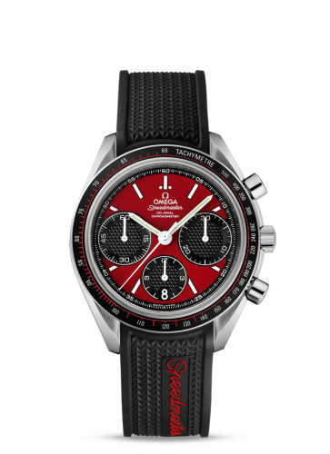 Omega 326.32.40.50.11.001 : Speedmaster Racing Co-Axial Chronograph Stainless Steel / Red / Rubber