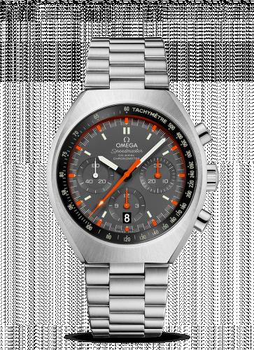 Omega 327.10.43.50.06.001 : Speedmaster Mark II Co-Axial Chronograph Stainless Steel / Grey / Bracelet