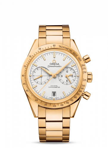 Omega 331.50.42.51.02.001 : Speedmaster 57 Co-Axial Yellow Gold / Silver / Bracelet