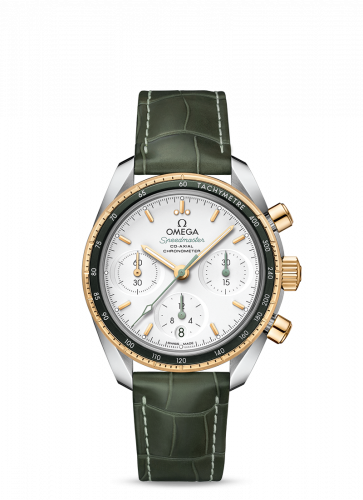 Omega 324.23.38.50.02.001 : Speedmaster Co-Axial 38 Stainless Steel / Yellow Gold / Silver