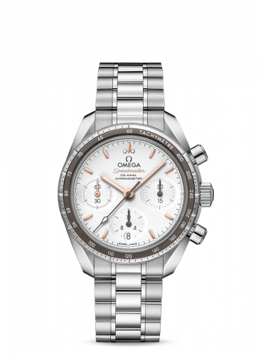 Omega 324.30.38.50.02.001 : Speedmaster Co-Axial 38 Stainless Steel / Silver / Bracelet