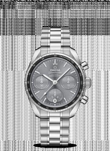 Omega 324.30.38.50.06.001 : Speedmaster Co-Axial 38 Stainless Steel / Grey / Bracelet