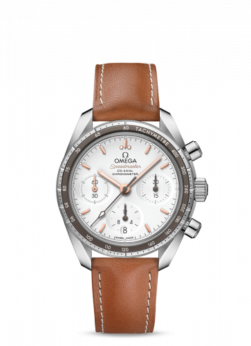 Omega 324.32.38.50.02.001 : Speedmaster Co-Axial 38 Stainless Steel / Silver / Strap