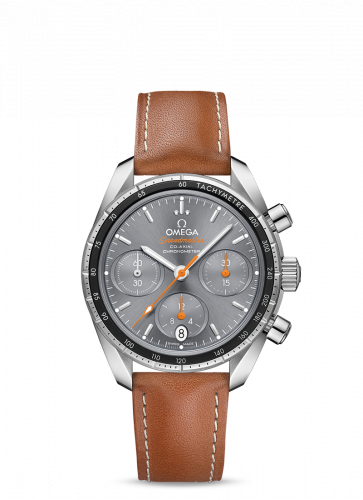 Omega 324.32.38.50.06.001 : Speedmaster Co-Axial 38 Stainless Steel / Grey / Strap