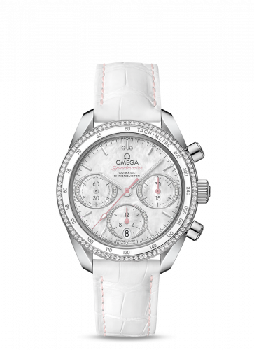 Omega 324.38.38.50.55.001 : Speedmaster Co-Axial 38 Stainless Steel / Diamond / MOP / Strap