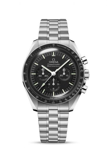 310.30.42.50.01.001 : Omega Speedmaster Professional Moonwatch 3861 Stainless Steel / Black / Plexi / Bracelet