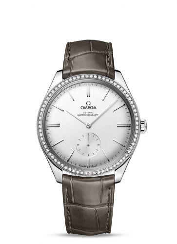 Omega 435.18.40.21.02.002 : De Ville Trésor Master Chronometer Small Seconds Stainless Steel / Diamond / Silver