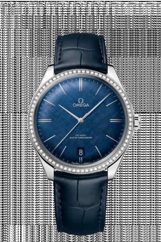 Omega 435.18.40.21.03.001 : De Ville Trésor Master Chronometer Stainless Steel / Diamond / Blue