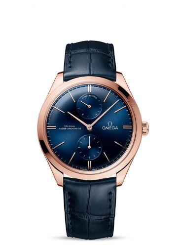 Omega 435.53.40.22.03.001 : De Ville Trésor Master Chronometer Power Reserve Sedna Gold / Blue