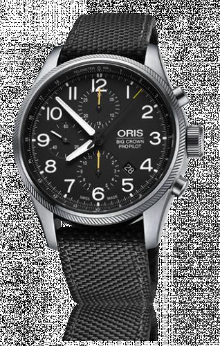 Oris 01 774 7699 4134-07 5 22 15FC : Big Crown ProPilot Chronograph / Black Textile