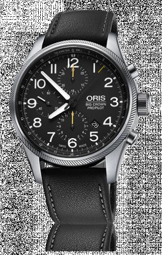 Oris 01 774 7699 4134-07 5 22 19FC : Big Crown ProPilot Chronograph / Black Leather