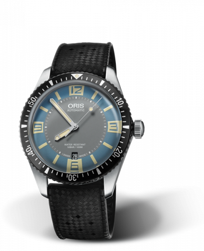 Oris 01 733 7707 4065-07 4 20 18 : Divers Sixty-Five 40 Stainless Steel / Deauville Blue / Rubber