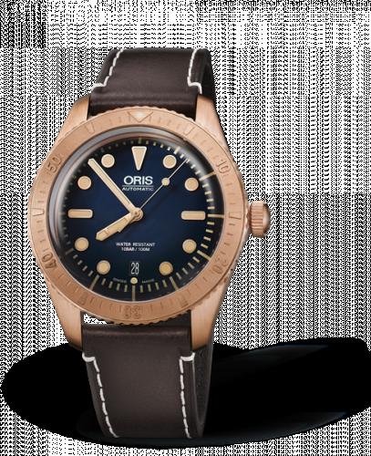 Oris 01 733 7720 3185-Set LS : Divers Sixty-Five Carl Bronze / Blue /  Brashear Limited Edition