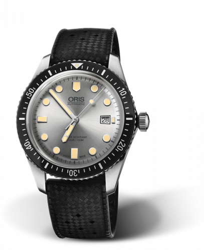 Oris 01 733 7720 4051-07 4 21 18 : Divers Sixty-Five 42 Stainless Steel / Silver / Rubber
