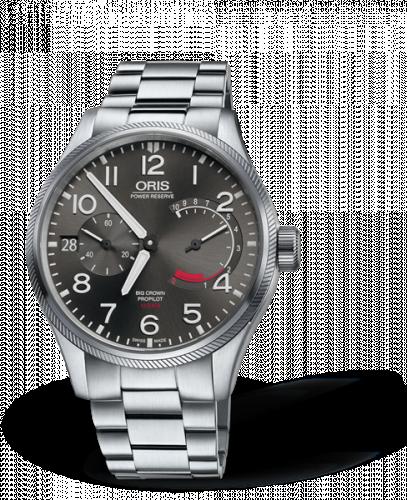 Oris 01 111 7711 4163-Set 8 22 19 : Big Crown ProPilot Calibre 111 Stainless Steel / Grey / Bracelet