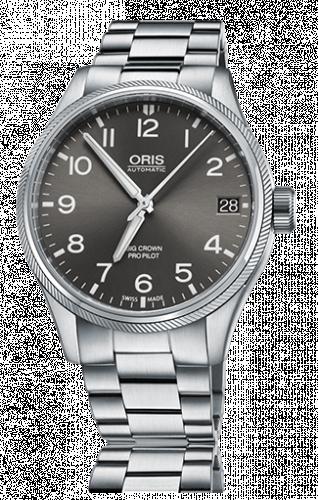 Oris 01 751 7697 4063-07 8 20 19 : Big Crown ProPilot Date Grey / Stainless Steel