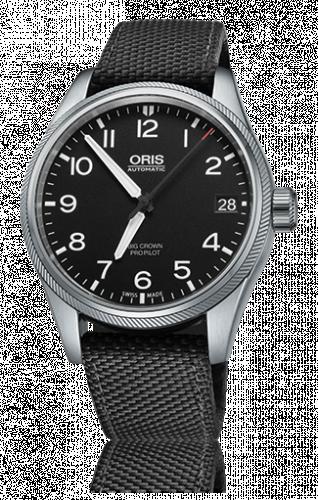 Oris 01 751 7697 4164-07 5 20 15FC : Big Crown ProPilot Date Black / Black Textile